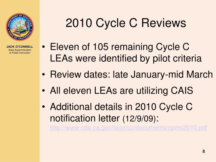 2010 Cycle C Reviews
