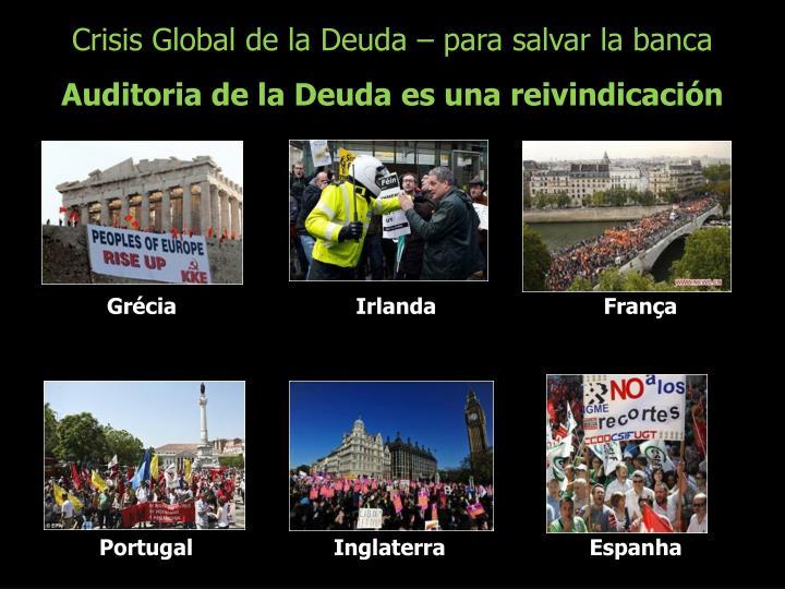 Crisis Global de la Deuda – para salvar la banca