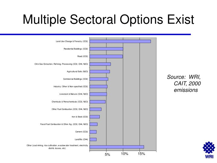 Multiple Sectoral Options Exist