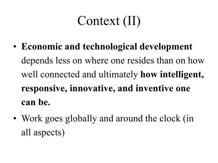 Context (II)