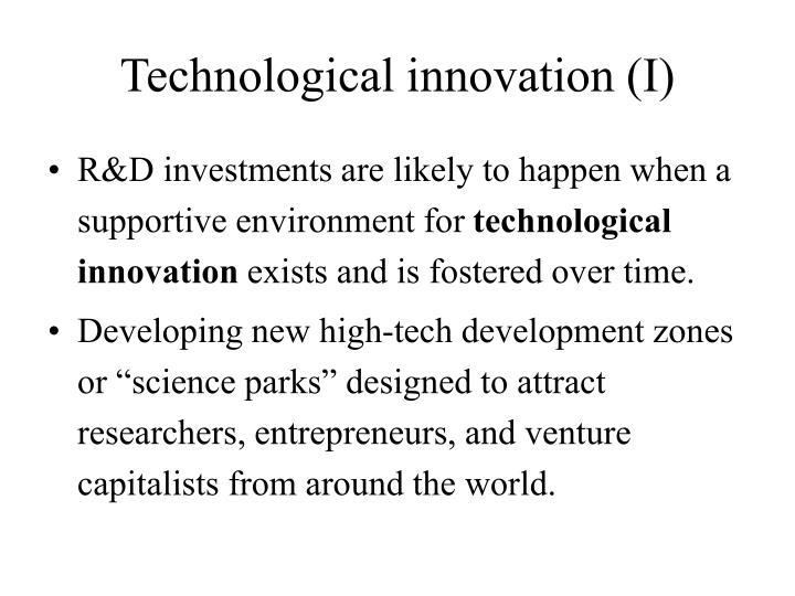 Technological innovation (I)