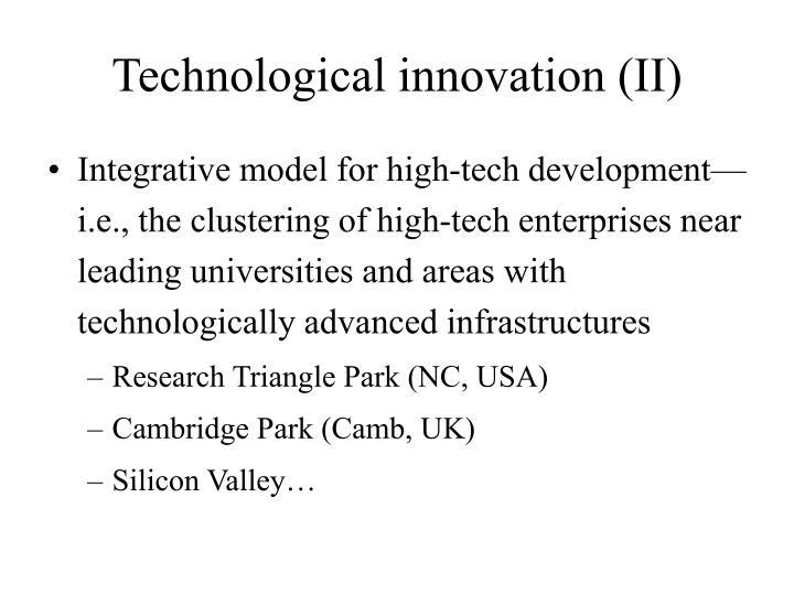 Technological innovation (II)