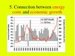 5 connection between energy costs and economic growth