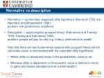 normative vs descriptive
