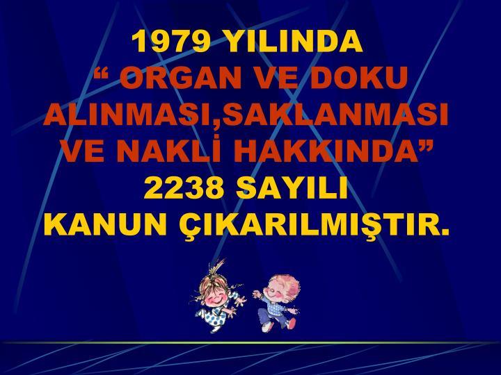 1979 YILINDA