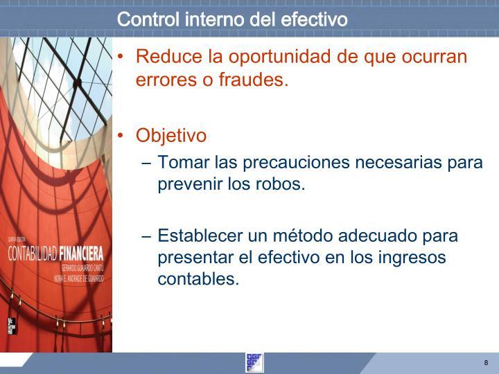 Control interno del efectivo