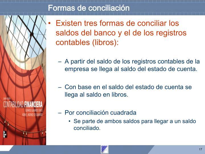 Formas de conciliación