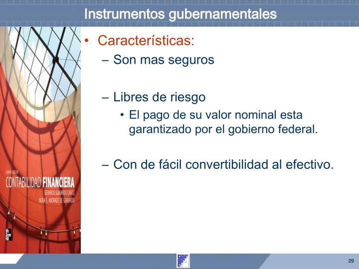 Instrumentos gubernamentales