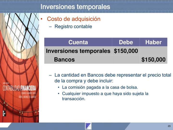 Inversiones temporales