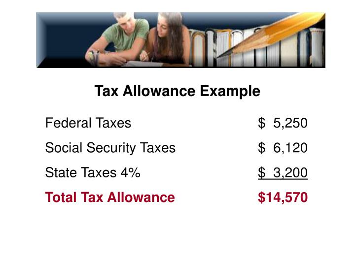 Tax Allowance Example