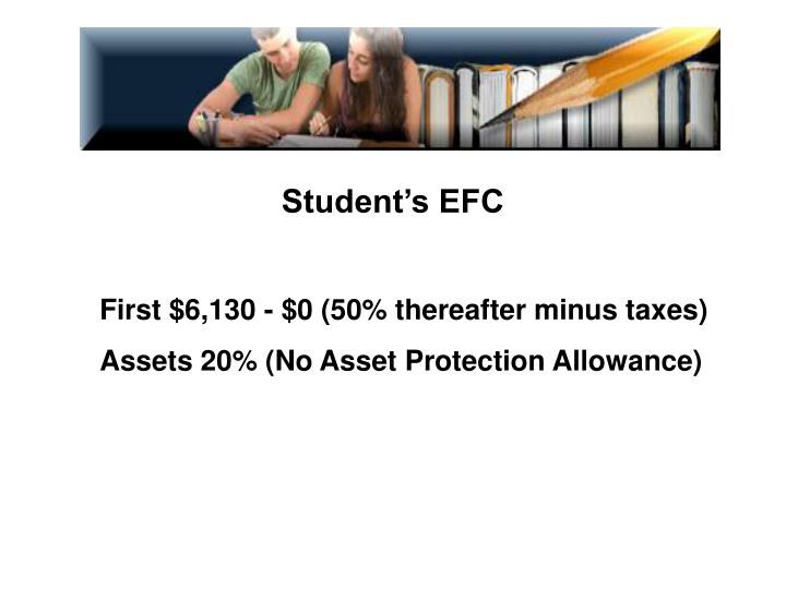 Student's EFC
