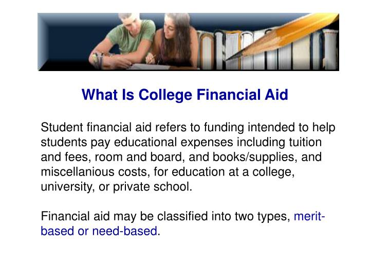 What Is College Financial Aid