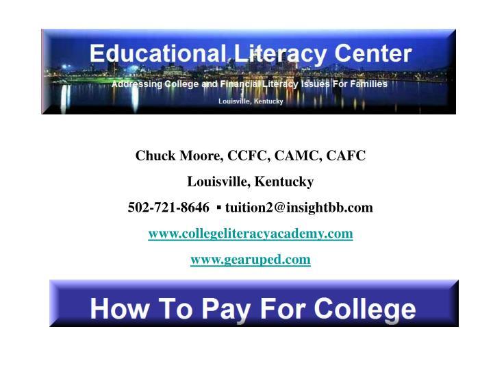 Chuck Moore, CCFC, CAMC, CAFC