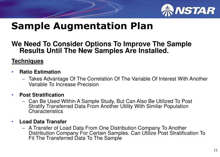 Sample Augmentation Plan
