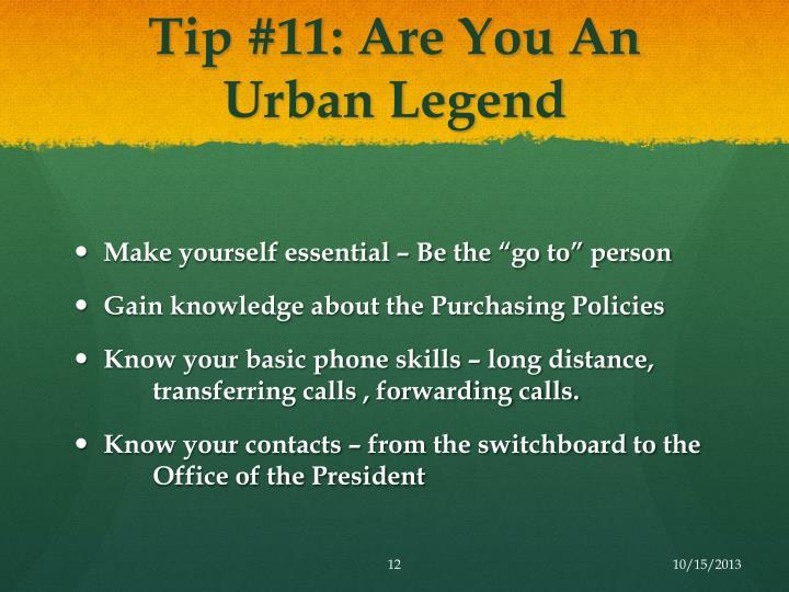 Tip #11: