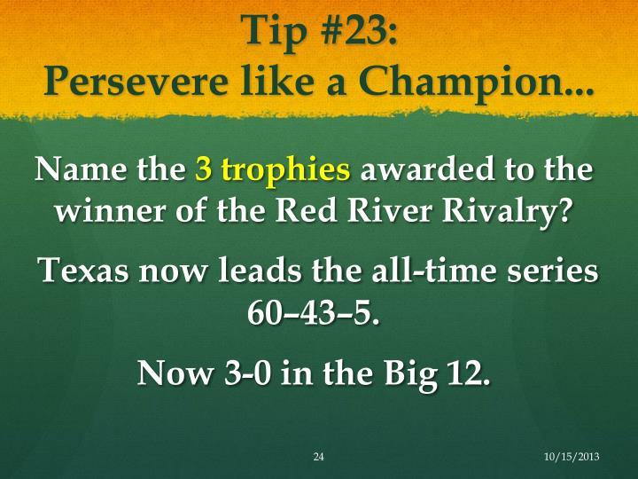 Tip #23: