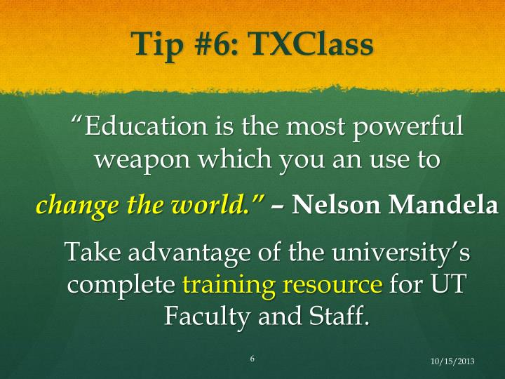 Tip #6: TXClass