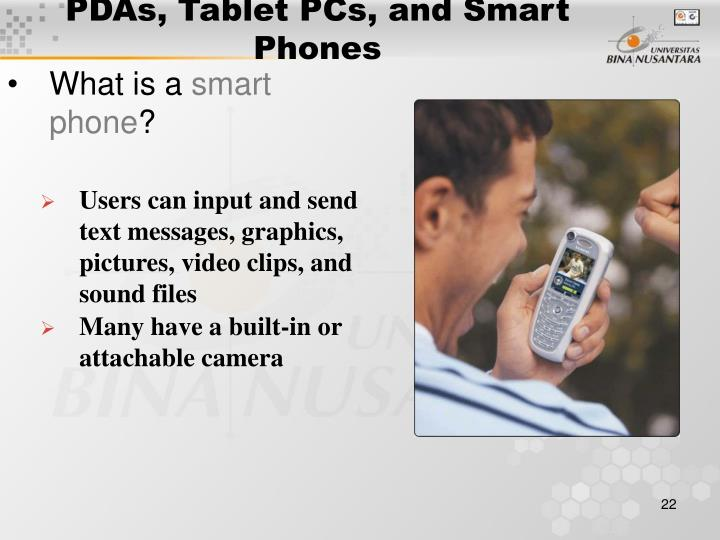 PDAs, Tablet PCs, and Smart Phones