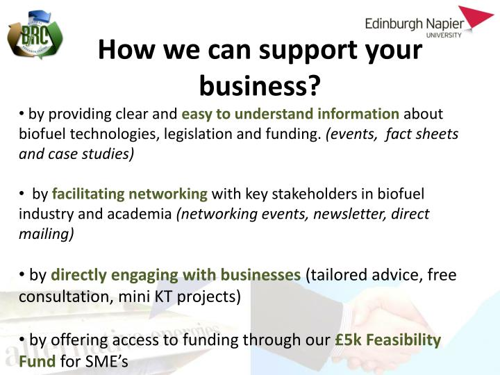 How we can support your business?