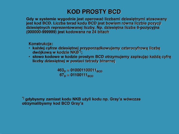 KOD PROSTY BCD
