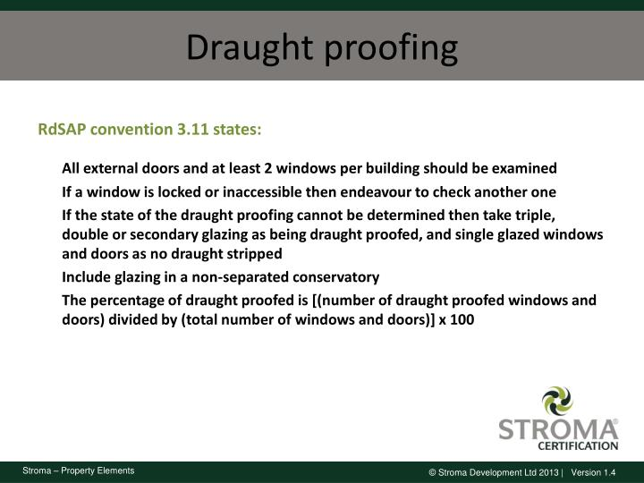 Draught proofing