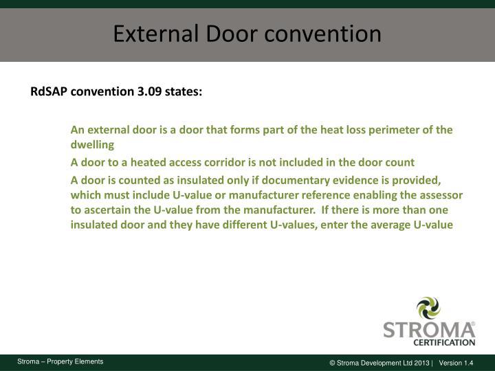 External Door convention