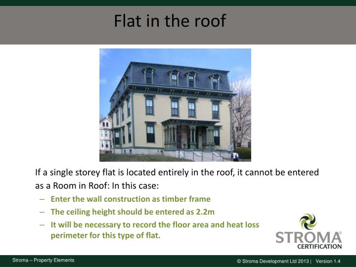 Flat in the roof