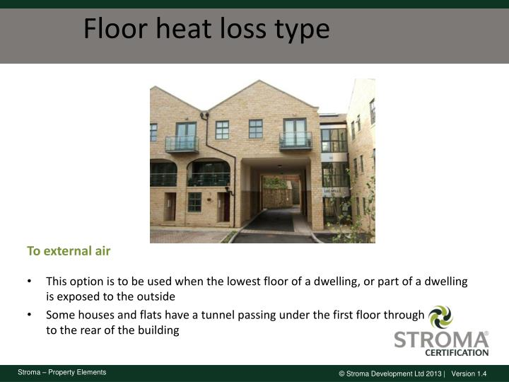 Floor heat loss type