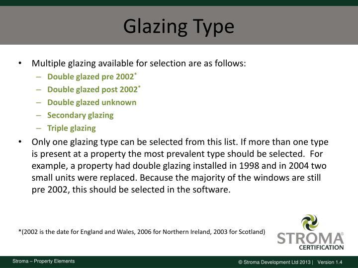 Glazing Type