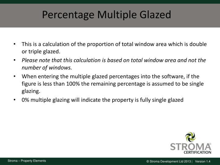 Percentage Multiple Glazed