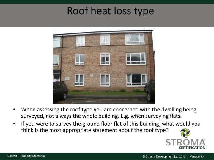 Roof heat loss type