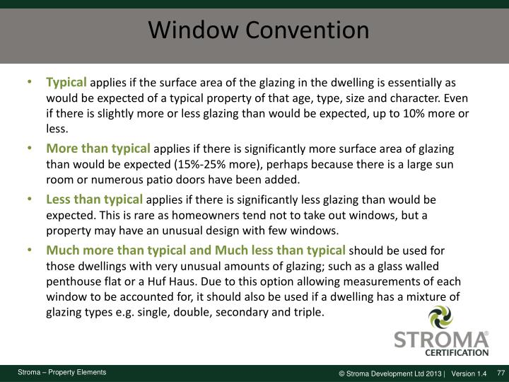 Window Convention