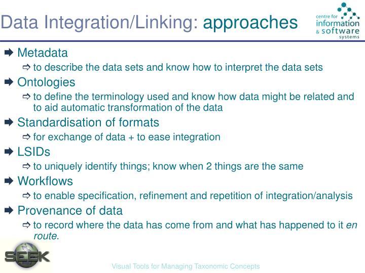 Data Integration/Linking: