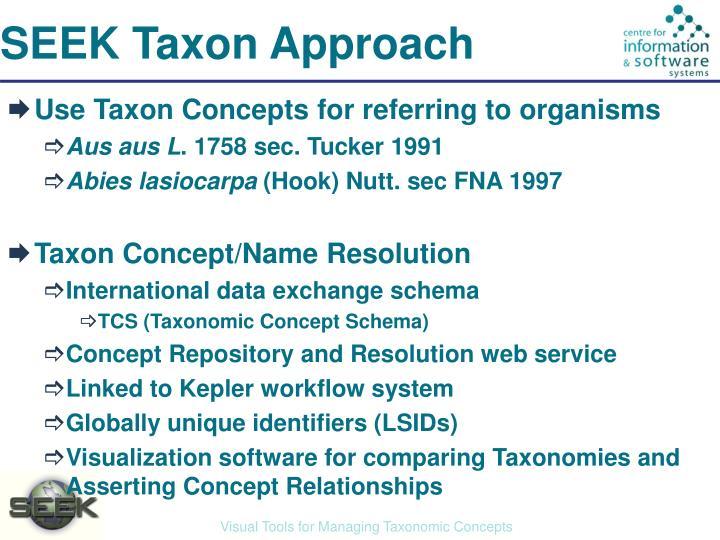 SEEK Taxon Approach