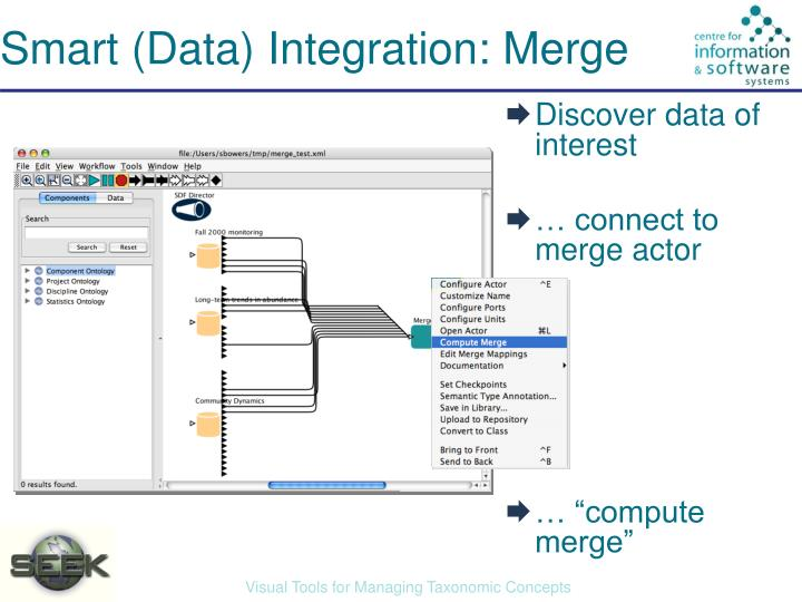 Smart (Data) Integration: Merge