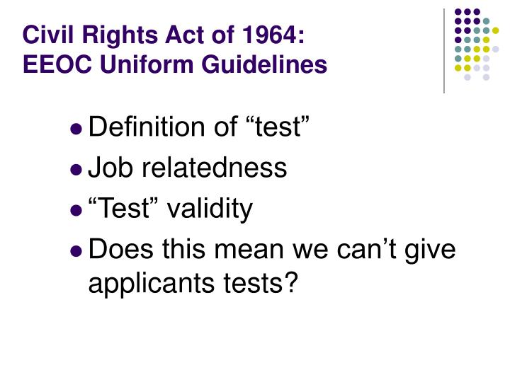 Civil Rights Act of 1964: