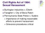 civil rights act of 1964 sexual harassment1