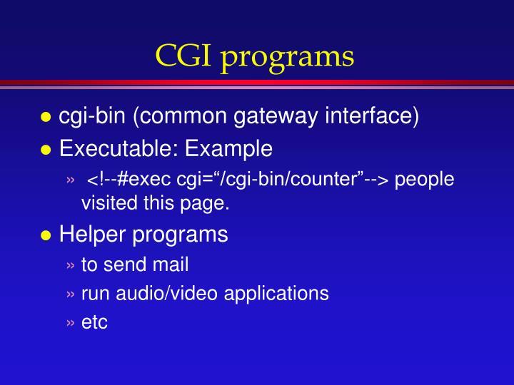 CGI programs