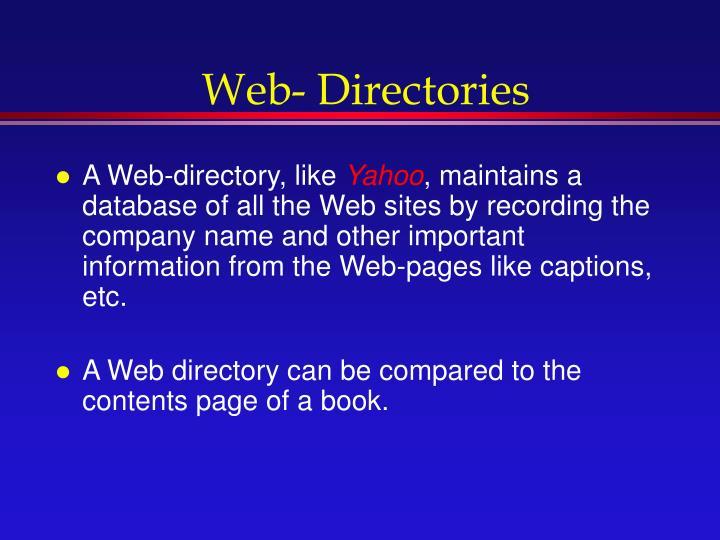 Web- Directories