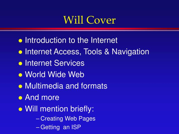 Will Cover