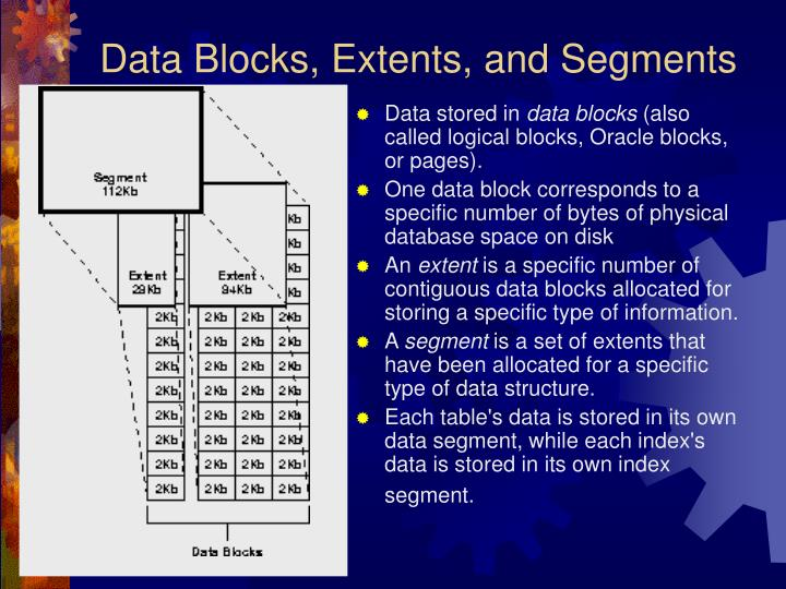 Data Blocks, Extents, and Segments