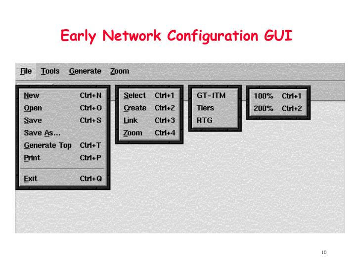 Early Network Configuration GUI
