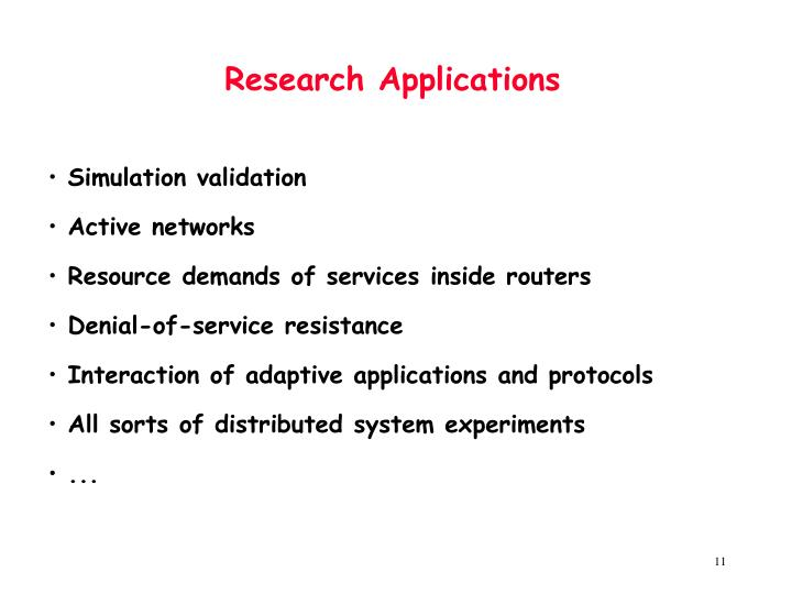 Research Applications