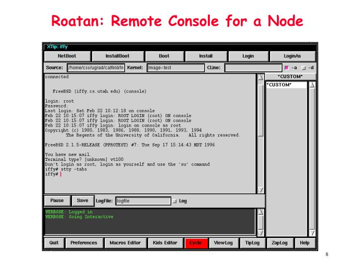 Roatan: Remote Console for a Node