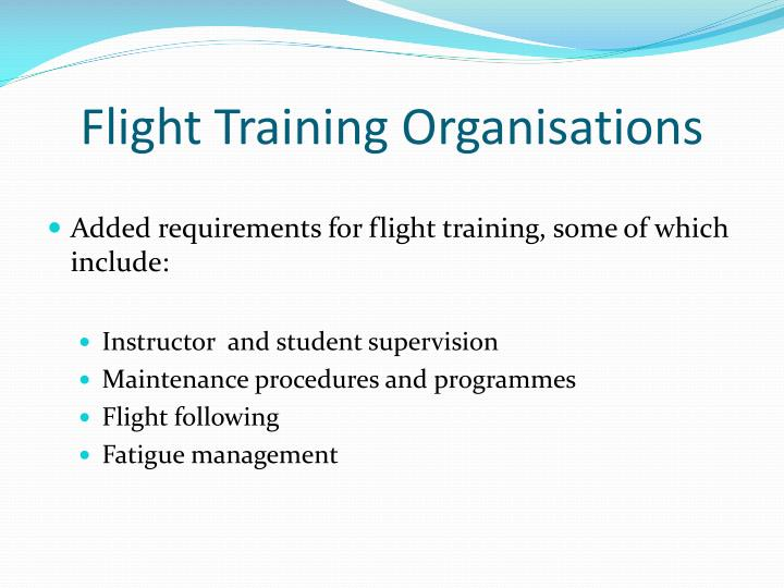 Flight Training Organisations