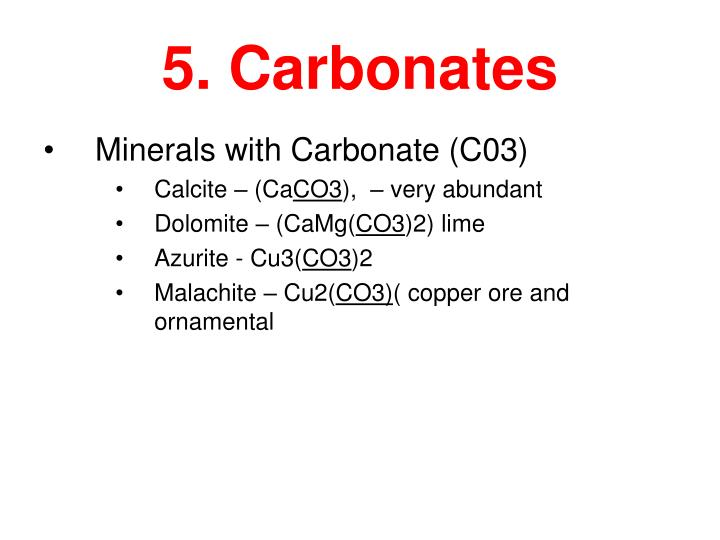 5. Carbonates