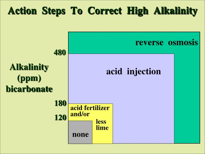 Action  Steps  To  Correct  High  Alkalinity
