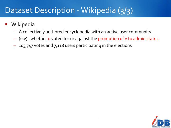 Dataset Description - Wikipedia (3/3)