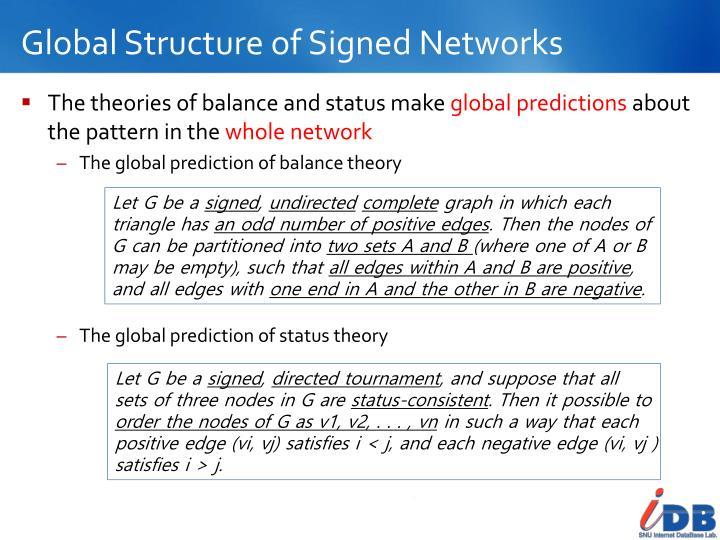 Global Structure of Signed Networks