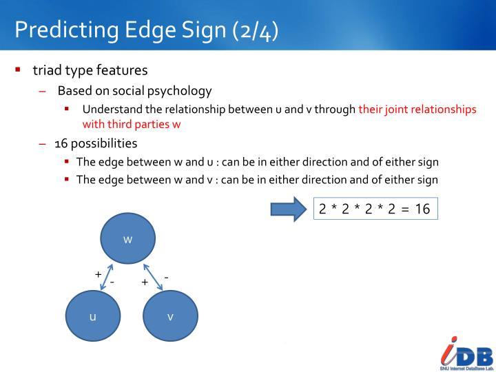 Predicting Edge Sign (2/4)